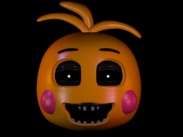 Toy Chica's head by Fina-Vyd