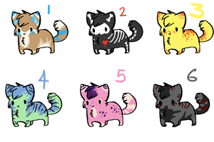 Kitty Adopts. Only 5pts each! by SceneAdoptables
