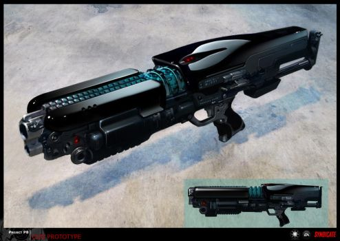 SYNDICATE concept - early weapon prototype concept by torvenius