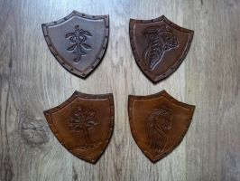 Lord of the Rings Antique Effect Leather Coasters by Masktastic