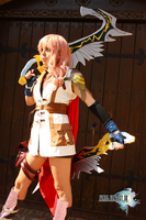 Lightning Cosplay with Odin Sowrds by Shady-Chan