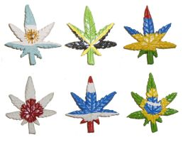 Flags of the World Cannabis Leaves Part 2 by aberrantceramics