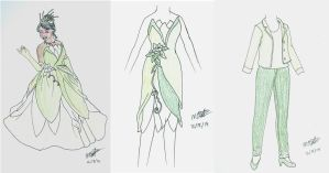 Tiana designs - Project Disney by songofafreeheart