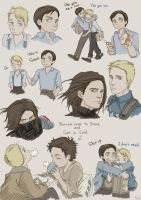 Steve and Bucky by SilasSamle