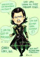 Chibi Loki Lost His Staff by christasyd