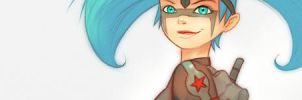 video 'blue hair red star' by 600v