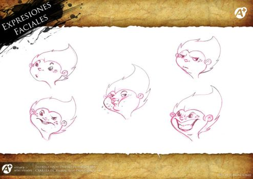 Little Cuchulain - Expressions by Katomaster