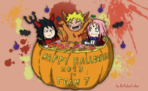 Happy Halloween! by Team 7 -Colored Sketch- by Bollybauf-chan
