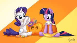 Candy Corn Twilight 16:9 by mysticalpha