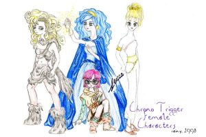 Chrono Trigger Heroines by rainytown