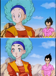 Redraw -Bulma and Vegeta by Sadyna