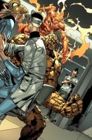 Fantastic Four and Daken. by MarteGracia