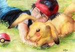 Real Ash and Pikachu by Fabio-mikk