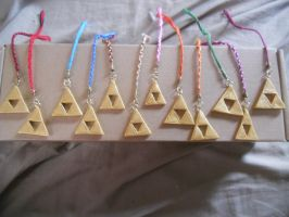Tri Force Charms for sale!!! by TheriaRose