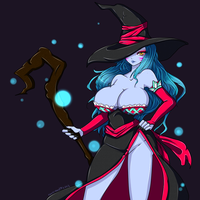 Sexy Demon Sorceress by chrecand