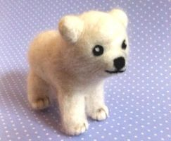 Iglu the Needle Felted Polar Bear :) by Charlottejks