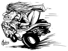 Toilet Racing Old Lady Inks by stikkmann