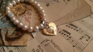 Pearl and silver fingerprint bracelet by aingeal-uisge