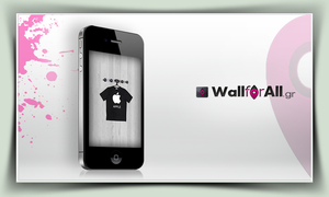 tshirt apple_iPhone by WallforAll