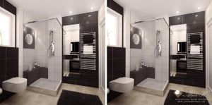Modern apartment Guest bath by kasrawy