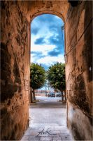 Old city gate by klapouch
