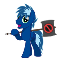 Blue *Banhammer* Sparkle by Ashidaru