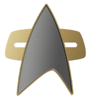 Star Trek Comm Badge (Voyager, DS9) Logo by SUPERMAN3D