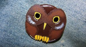 Brown Owl Pin by LittleLadyDarkness