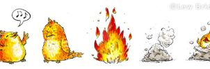 Phoenix Lifecycle- enonea by childrensillustrator