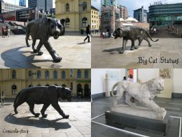 Big Cat Statues pack by Comacold-stock