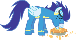 Soarin Eating a Pie by TecknoJock