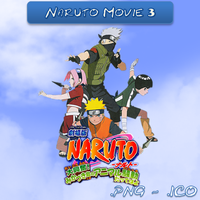 Naruto Movie 3 ICO and PNG by bryan1213