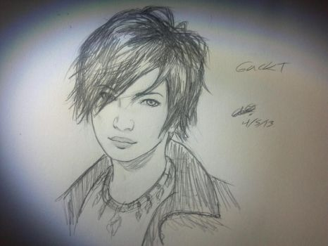 Gackt Doodle by ashisferkinawesome