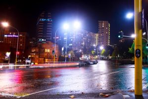 Auckland at Night by EL3-Imagery