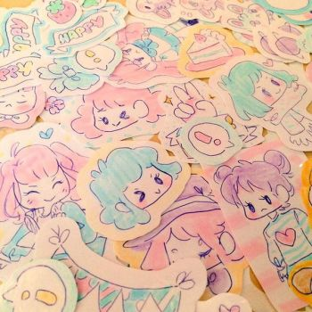 Pastel Stickers by pomifumi