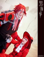 Kuroshitsuji: Grell and Madame by Redustrial-Ruin