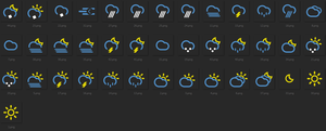 Weather Icons - XWidget by tchiro