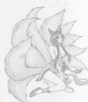 League of Legends - Ahri the Nine-Tailed Fox by Nick-San90