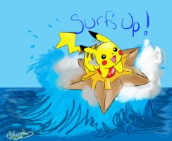 Surf's Up-Serena's Drawing by CharlieMcCarthey