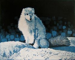 The Arctic Fox by DoodleDuo