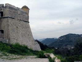 Old castle in mountains by Momotte2