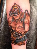 krieg the psycho from Borderland 2 tattoo by DaneTattoo