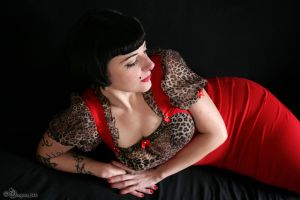 woman in red by dragona666