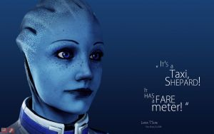 ME Wallpaper - Liara III by pineappletree