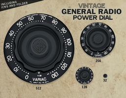 Vintage Power Dial Icon by BiroBloke