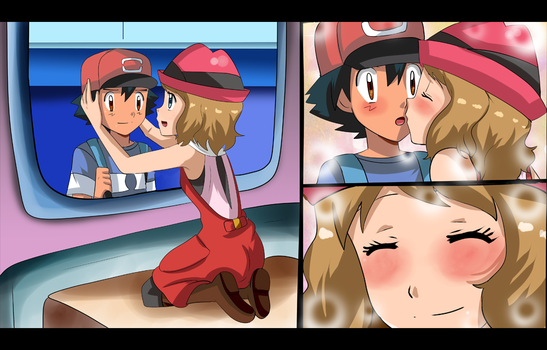 amourshipping going to alola by hikariangelove