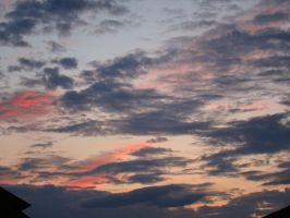 Evening clouds stock by Feeriee13