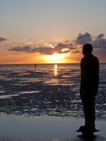 Figure on Crosby Beach by BigA-nt