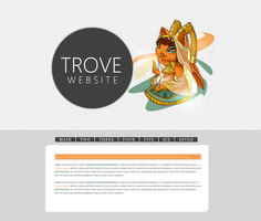 Trove - website by sarahlittleteeth