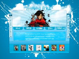 ahmedart web layout 2 by AhmedART